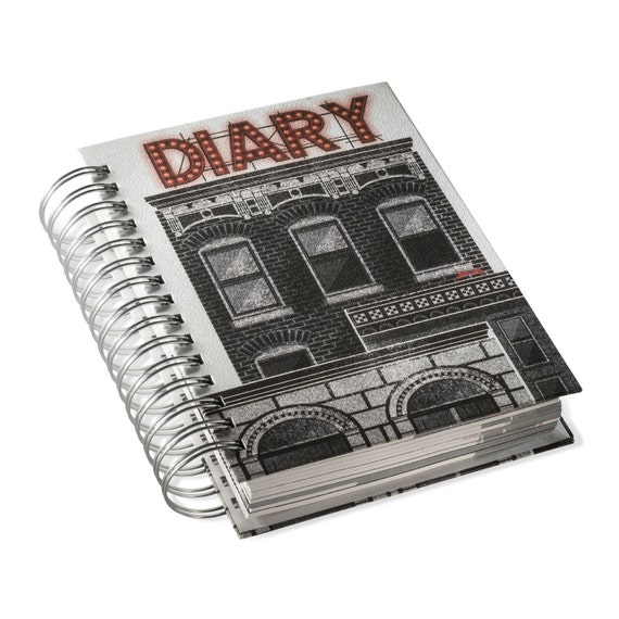 UNIVERSAL DIARY. Day per page planner. Spiral bound any year journal. Universal Diary. For architecture and design lovers
