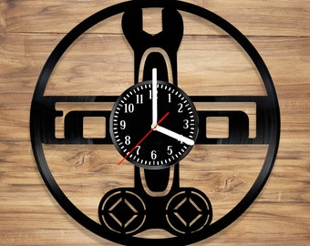 Tool Vinyl Record Wall Clock Rock Band Heavy Metal Legend Music Perfect Art Decorate Home Style UNIQUE GIFT idea for Him Her (12 inches)