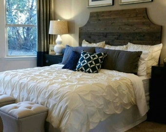 Dark Walnut Rustic Wood Headboard Twin King Choose From 6