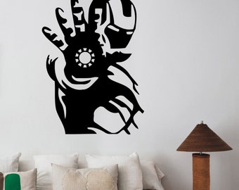 Iron Man Wall Decal Vinyl Sticker Marvel Comics Superhero Art Decorations for Home Housewares Bedroom Playroom Kids Boys Room Decor irm2
