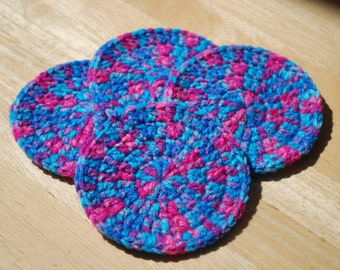 Crochet Coasters - Set of 4 - Bonbon