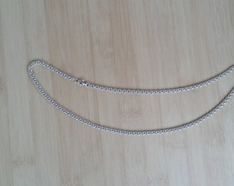 Handmade Sterling Silver Necklace(White)