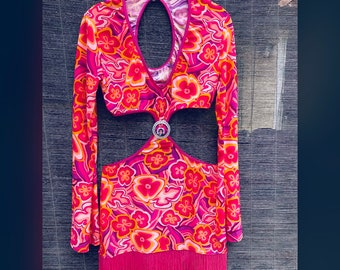 Psychedelic Cut-Out Dress (size medium)