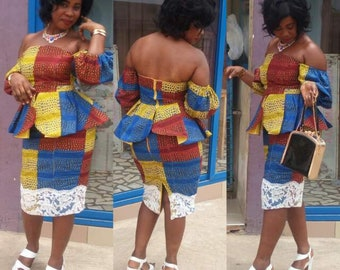 Dresss/African dress(skirt and top)