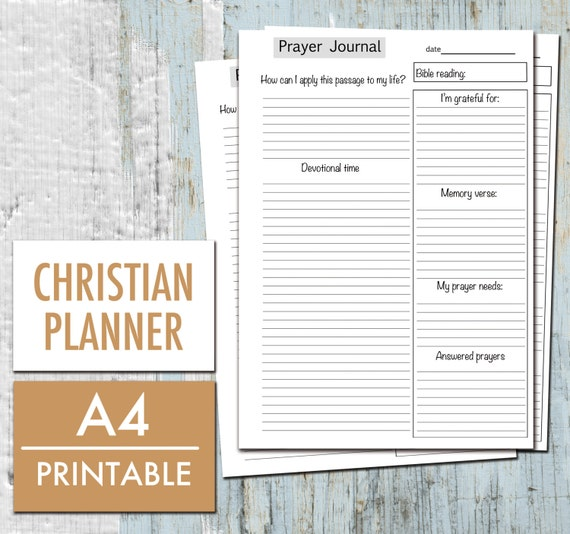 prayer journal christian planner bible study gratitude