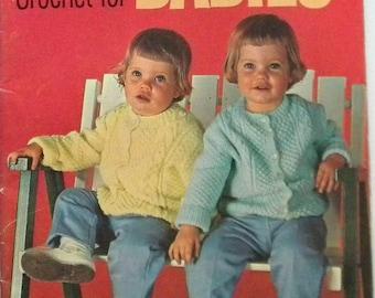 60's Baby Book Knit Crochet Pattern Coats Clark's 146 Sweaters, Lamb, Bunny, blanket