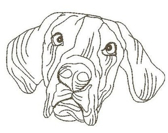 Great Dane Dogs   ( 10 Machine Embroidery Designs from ATW )