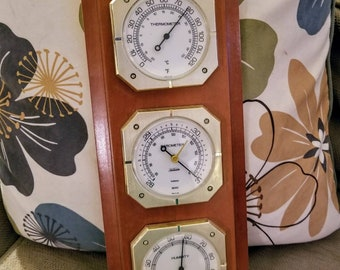 Antique Sunbeam Weather station temperature, barometer, and humidity
