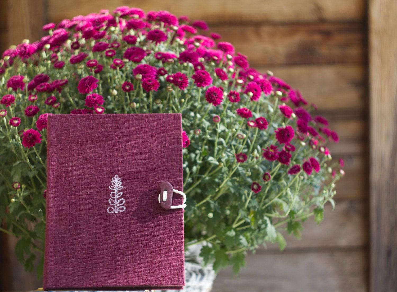Handmade Notebook Purple Floral Book Handmade Paper