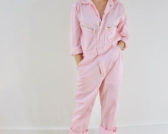 Boiler Suit - pastel pink - can offer MOST sizes.