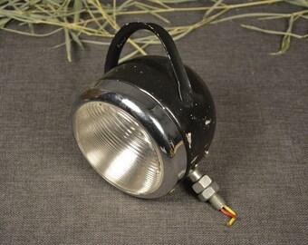 Vintage motorcycle headlight - Black bulgarian beacon - Truck headlight - Hunting a headlamp providing car - Fight headlight - Vintage lamp