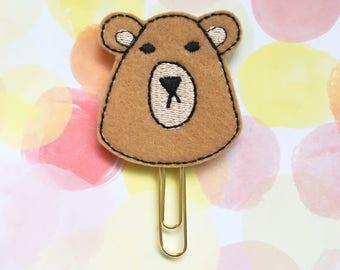 Grumpy Bear Planner Clip