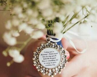 Mummy's Bridesmaid flower charm