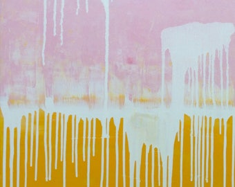 "Acrylic on canvas ""Milan Peaches"" 80 x 60 cm Modern Art modern style acrylic original abstract painting on canvas"