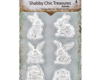 Prima, Shabby Chic Treasures, Rabbits, Scrapbooking, Card Making, Mixed Media, Scrapbooking Embellishment