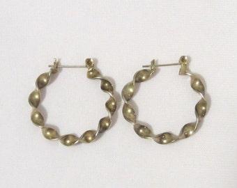 Vintage Sterling silver Twisted Hoops Earrings