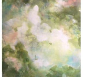 "Modern Art Print-- Archival Print of Original ""Azalea Woodlands"""
