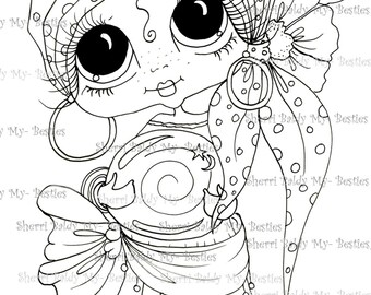 DESCARGA instantánea Digital Digi sellos ojo grande Big Head Dolls Digi Besties Img390 Bestie por Sherri Baldy