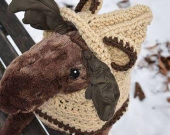 Children hooded bear cowl
