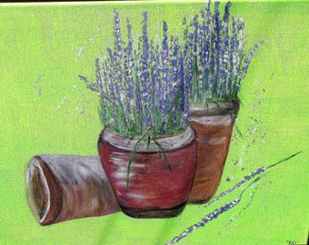 Lavender acrylic painting