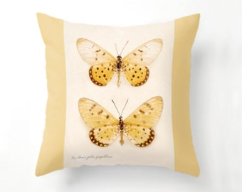 Yellow Butterflies Pillow cover, Butterfly Home Decor, butterflies, throw pillow, fine art photography, papillon, spring decor, home decor