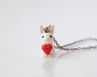 Rabbit Necklace. Easter Bunny Gift. Cute Miniature Animal Jewellery. Pet Pendant. Rabbit Lover Gifts. Mothers Day Gift. Tiny Love Accessory.