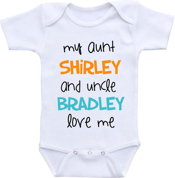 Personalized aunt and uncle baby onesie aunt and uncle gift like this item negle Gallery