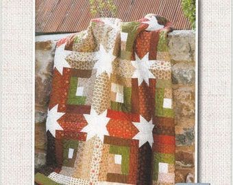 "QUILT KIT: Log Cabin Hidden Stars- Jelly Roll Friendly - 60"" x 60"""
