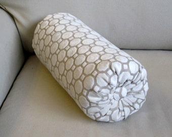 Raised Velvet in PEARL IVORY bolster pillow 6x14 6x18 6x20