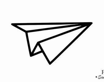 airplane paper paper flat flex fusible