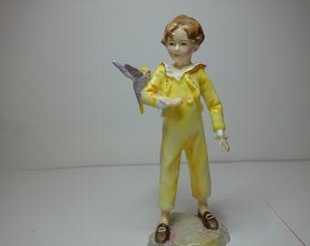 "Royal Worcester boy figurine ""parakeet"" No 3087"