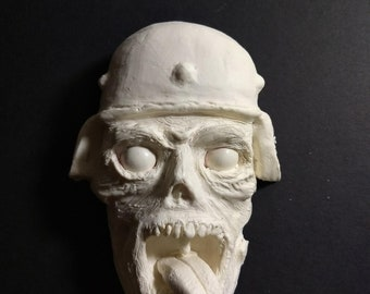 Military PTSD Army Crazy Zombie polymer clay Sculpture