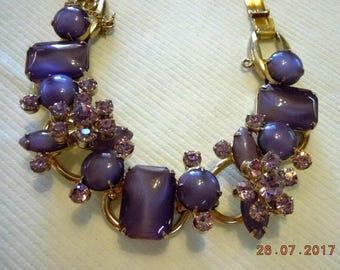 "JULIANA - 7-1/2"" Bracelet - Mint Condiiton - beautiful play of lavender colors"