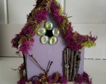 Fairy house, whimsical bird or fairy house, magical fairy cottage