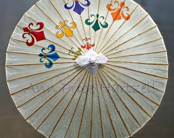 Parasol - 45 inch Fleur de Lis Parasol