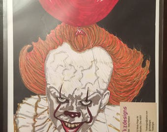 8x10 Artist Signed Limited Edition IT Pennywise Print Artist Tony Keaton