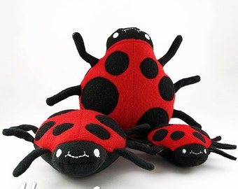Ladybug Stuffie Embroidery Design, ladybug, bug, ladybug machine embroidery, ITH plushie, in the hoop, ith, stuffed, ladybug softie