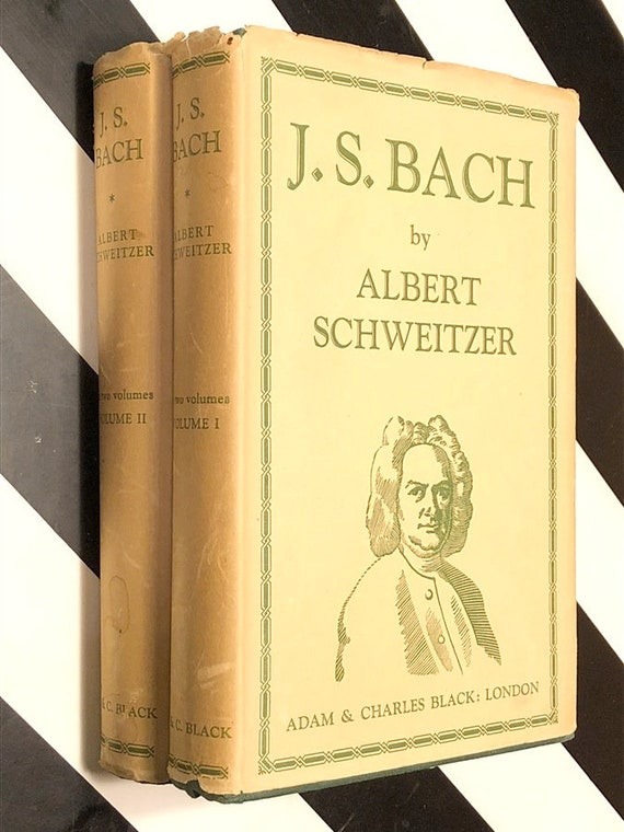 J.S. Bach by Albert Schweitzer, A Biography in Two Volumes (1949) hardcover book