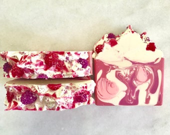 Soap Raspberry Artisan Soap, Cold Process Soap, Handcrafted Soap