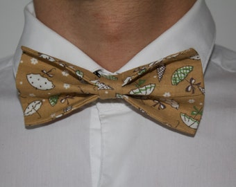 Bow tie gold patterned