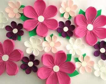 16 Paper Flowers Wall Arch Wedding Decoration Large