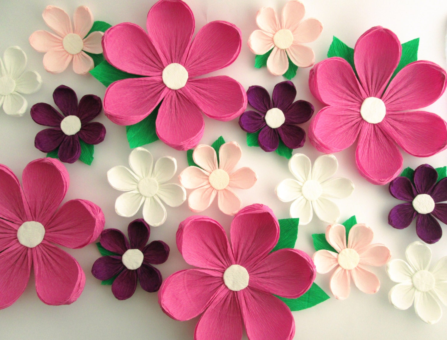 16 Paper Flowers Wall Flowers Arch Flowers Wedding