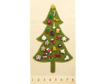 Felt Advent Calendar Tree - Pattern - Advent Calendar - Traditional Christmas with 24 Treasured Character Ornaments