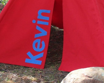 Personalized Canvas Teepee Tent, Can Include Window, Kids Tent, Play Tent, Other Colors Available, Kids Teepee, Playhouse