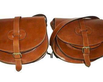 Leather saddle bag, Leather Bag, Leather Crossbody bag purse, Leather Messenger Bag, Leather women bag, Leather Woman bag, Goldmann L brown!