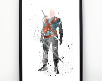 Witcher, Witcher fan Art, Watercolor alternative poster, Watercolor Art, Nursery Print, Nursery Wall Art,