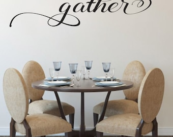 Gather Wall Decal Living Room Dining Family Decor Sticker Made In USA