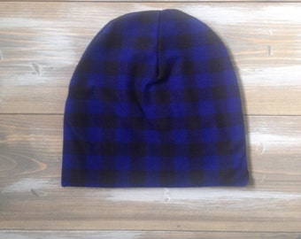 Slouchy Toque | Slouchy Beanie | Baby and Toddler | Buffalo Plaid