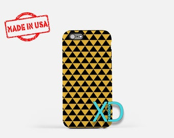 Pyramid Phone Case, Pyramid iPhone Case, Triangle iPhone 7 Case, Mustard, Triangle iPhone 8 Case, Pyramid Tough Case, Clear Case, Geometric