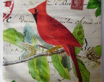 Red Bird Cushion Cover